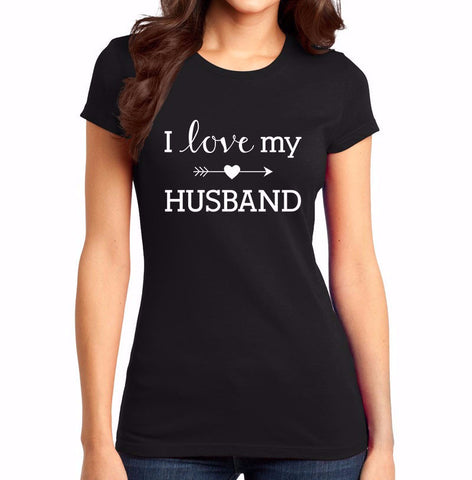 I Love My Husband Heart Arrow Shirt