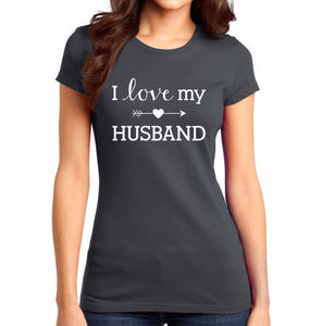 I Love My Husband Heart Arrow Shirt - T-Shirt - Marriage After God