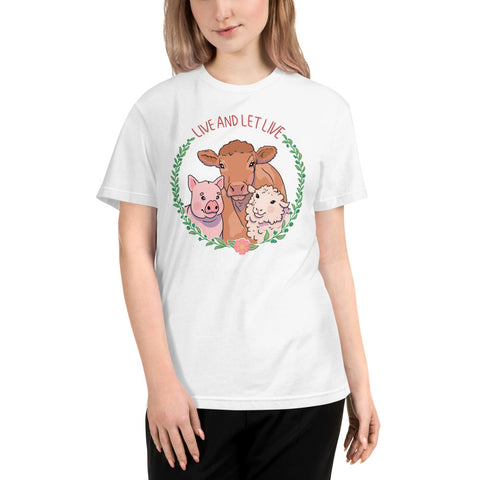 Vegan Live and Let Live Sustainable T-Shirt