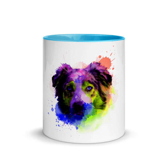 Yellow Aussie Splatter Mug