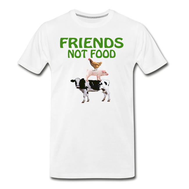 Men's Friends Not Food Tri-Blend T-Shirt - white