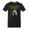Men's Friends Not Food Tri-Blend T-Shirt - black