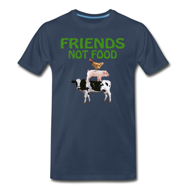 Men's Friends Not Food Tri-Blend T-Shirt - navy