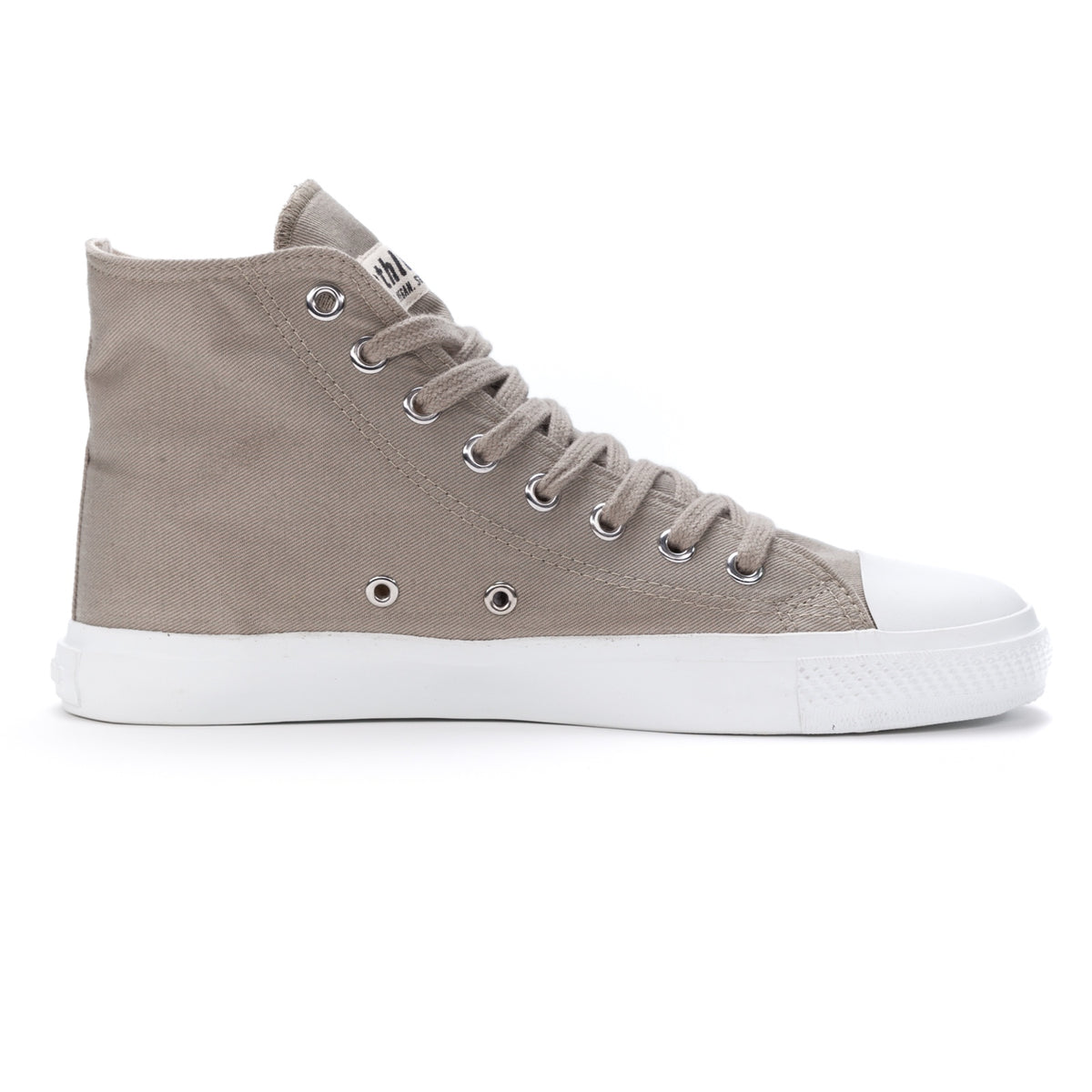 Fair Trainer White Cap Hi Cut Frozen Olive | Just White
