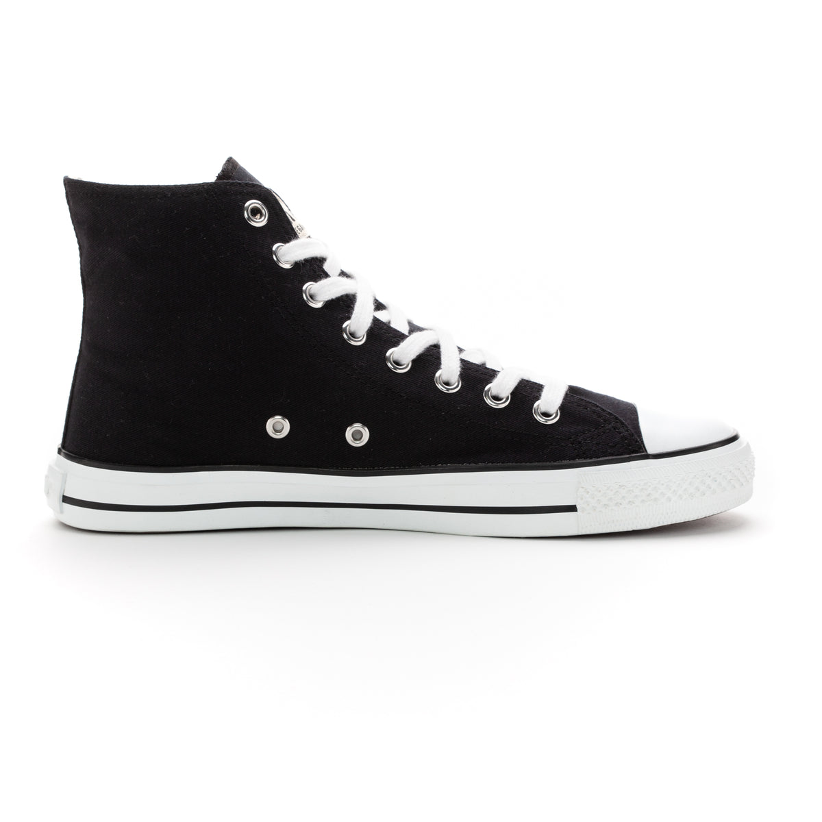 Fair Trainer White Cap Hi Cut Jet Black | ETHLETICS