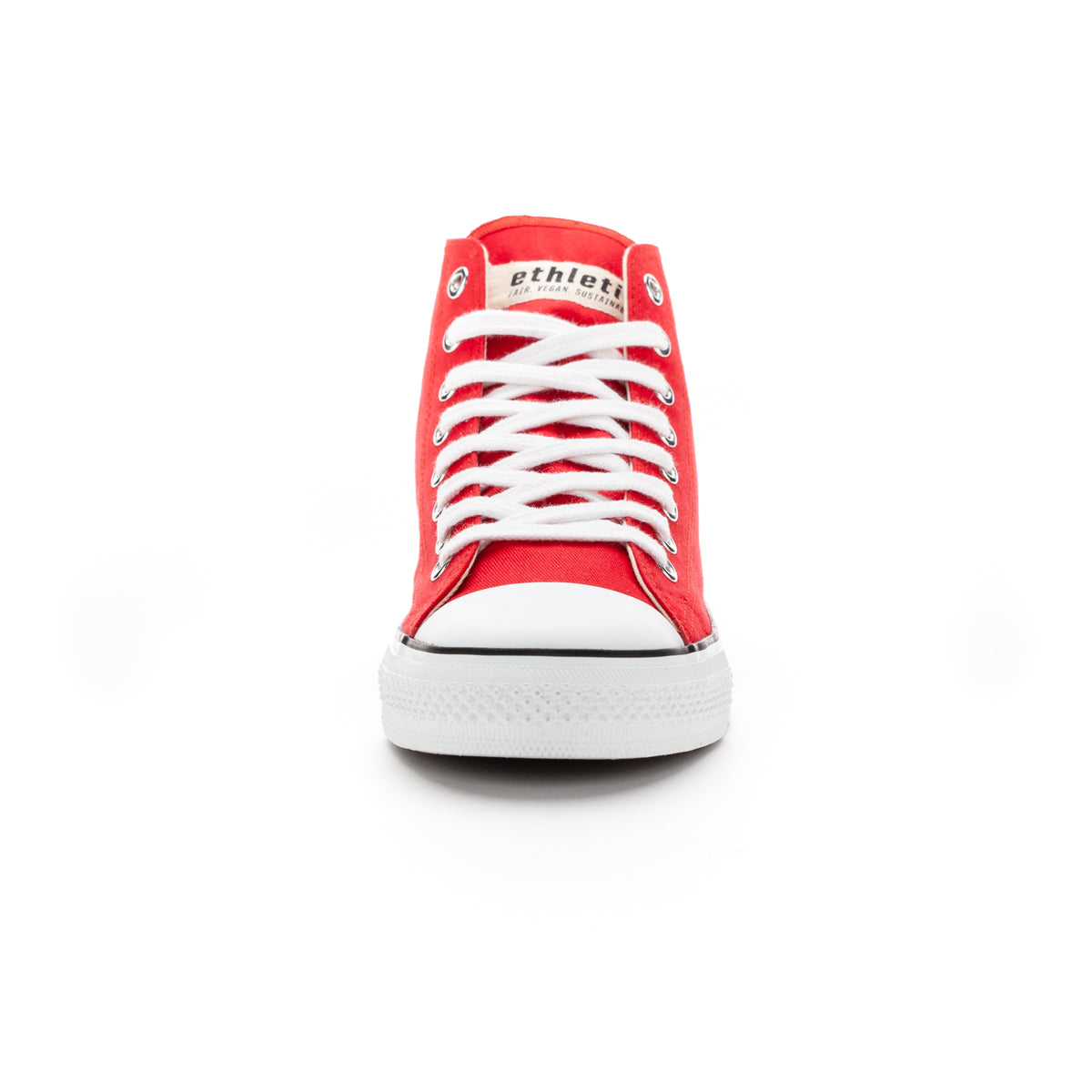 Fair Trainer White Cap Hi Cut Cranberry Red | Just White