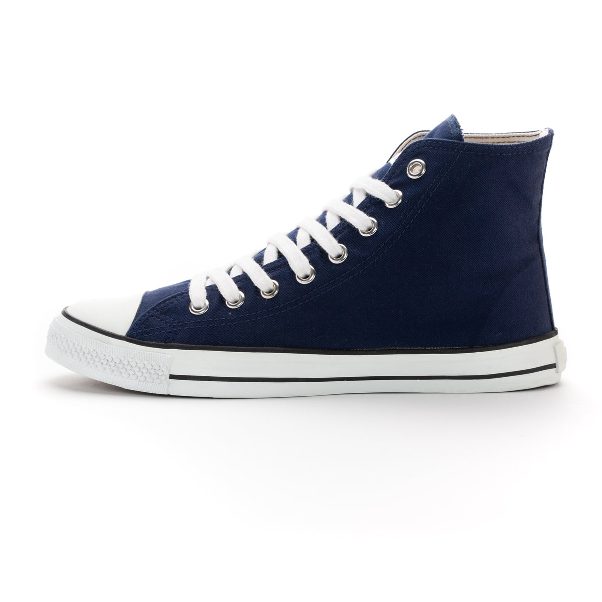 Fair Trainer White Cap Hi Cut Ocean Blue | Just White