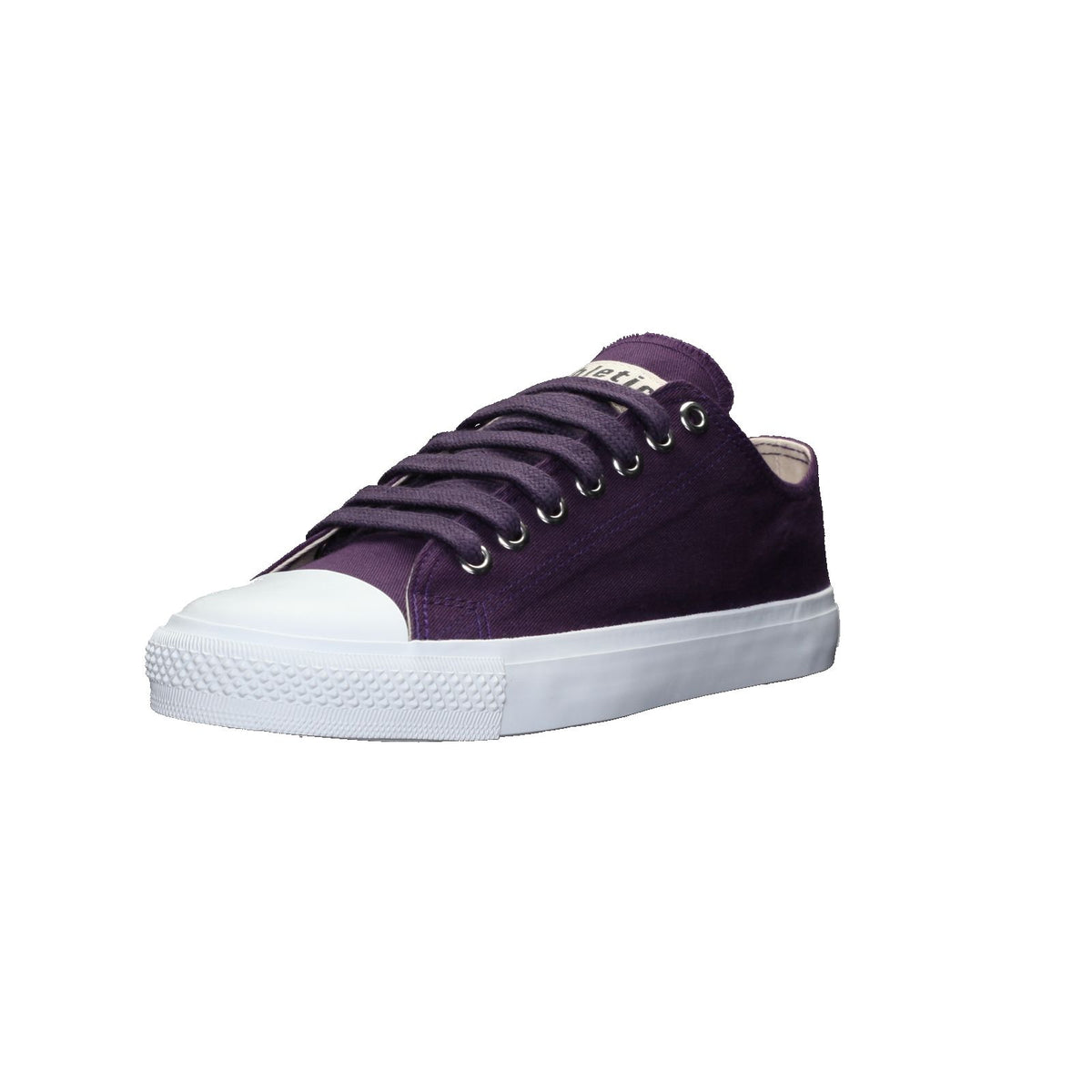 Fair Trainer White Cap Lo Cut Grape Velvet | Just White