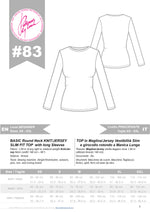 Load image into Gallery viewer, Digital Sewing Pattern N.83 - Basic Jersey Top