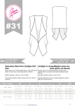 Carica l'immagine nel visualizzatore di Gallery, Digital Sewing Pattern N.31 - Sleeveless Open-front Cardigan Knit Vest