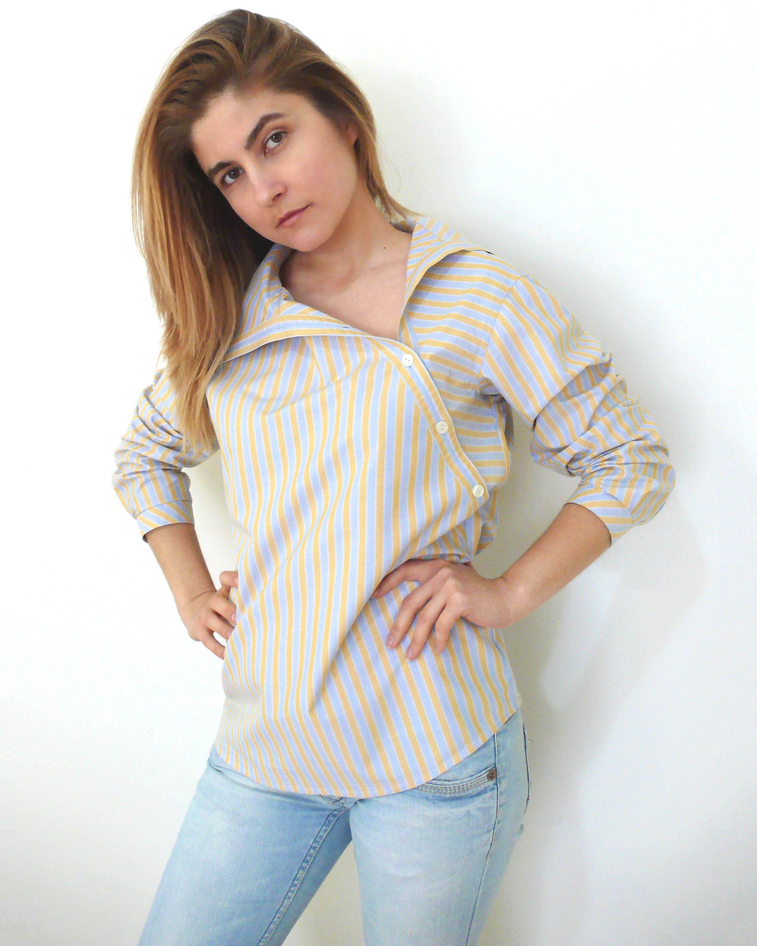 Digital Sewing Pattern N.32 - Shirt with Asymmetric Collar