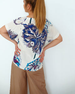 summer top with raglan sleeve