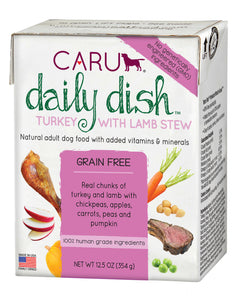 Caru Daily Dish Dog Stew Turkey with Lamb Stew