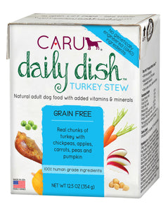 Caru Daily Dish Dog Stew Turkey