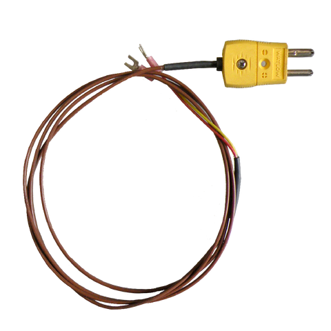 Male Thermocouple Plug & Cable P/N: 89-0009