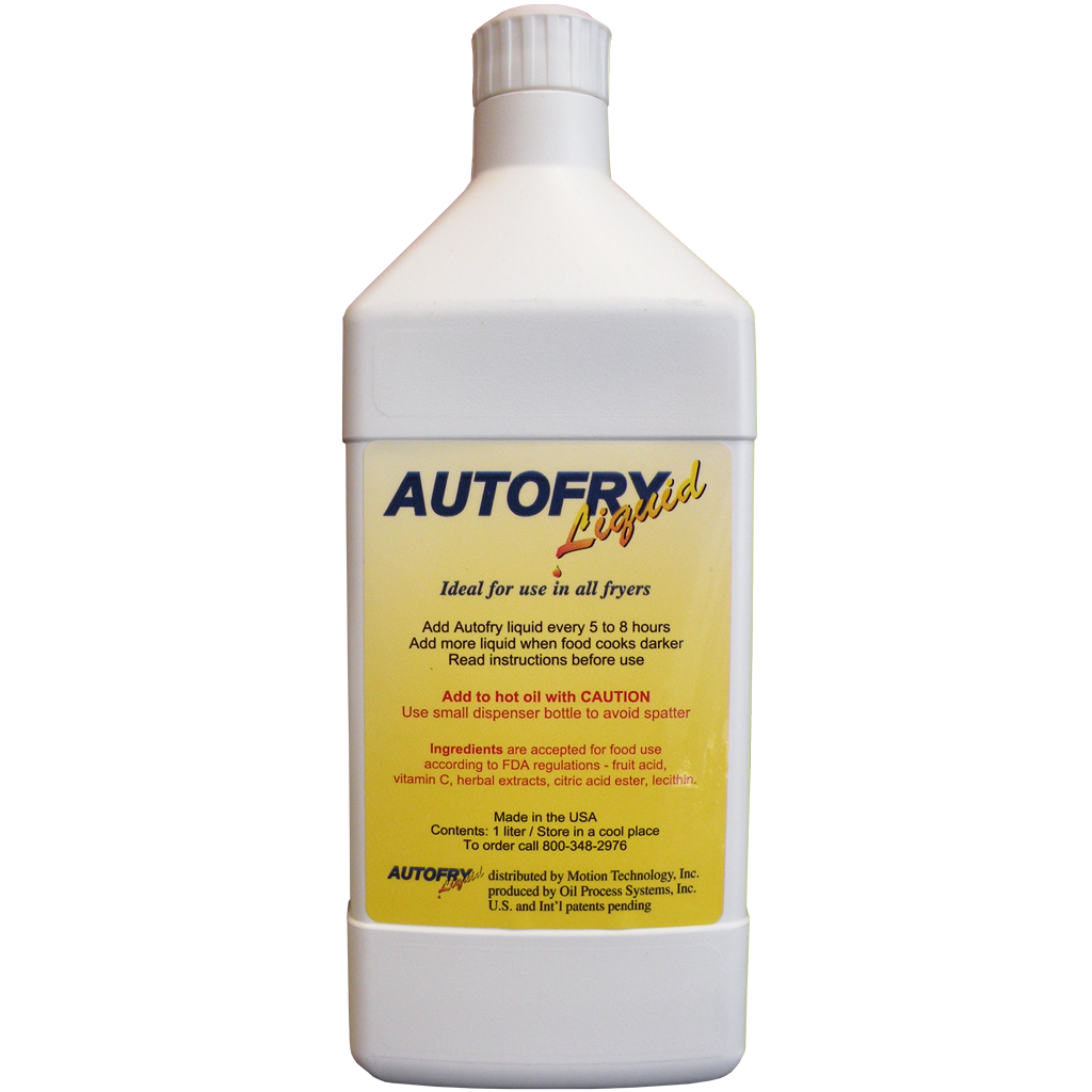 AutoFry Liquid used to prolong oil lifespan