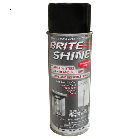 Brite Shine Stainless Steel Cleaner and Polish Spray P/N: 21-0018