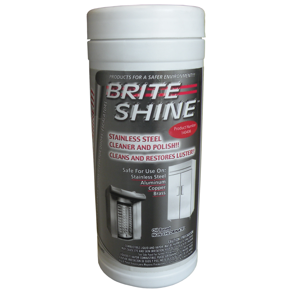 Brite Shine Stainless Steel Cleaner and Polish Wipes for AutoFry