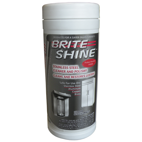 Brite Shine Stainless Steel Cleaner and Polish Wipes P/N: 21-0019