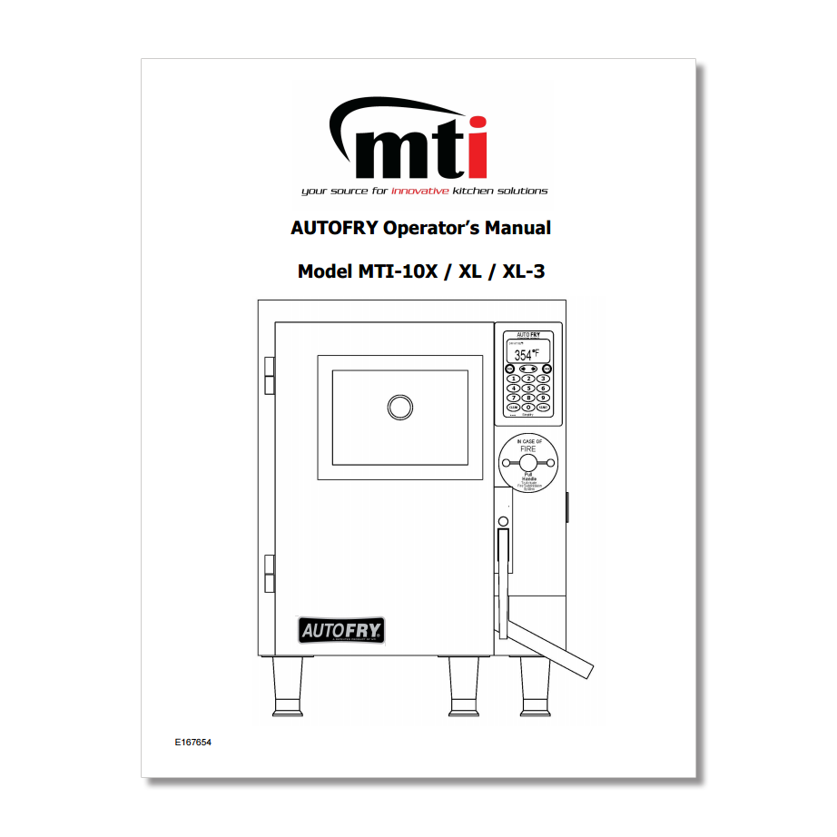 AutoFry MTI-10X Owners Manual