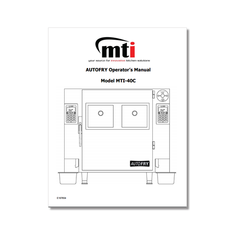 AutoFry MTI-40C Owners Manual P/N: MTI40COM