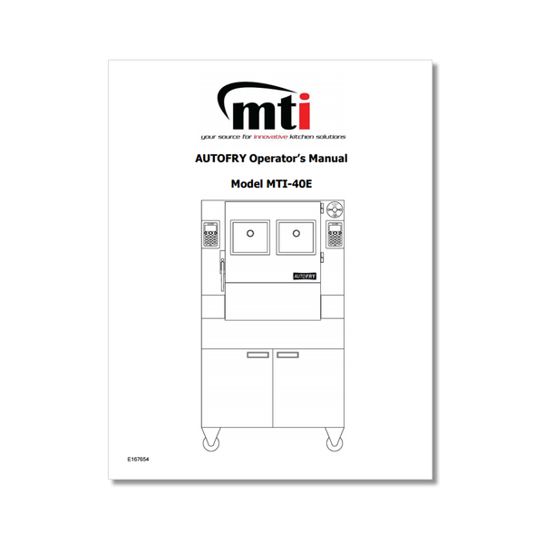 AutoFry MTI-40E Owners Manual
