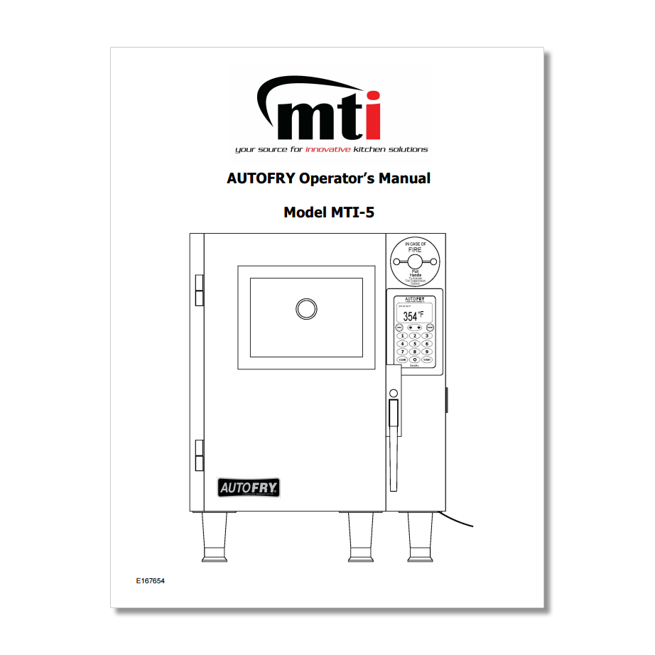 AutoFry MTI-5 Owners Manual