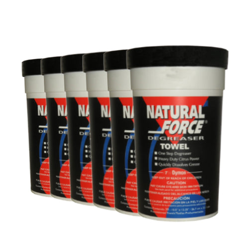 Natforce Degreaser Towels (Case of 6 Tubs of 30 Wipes) P/N: 21-0004 x6