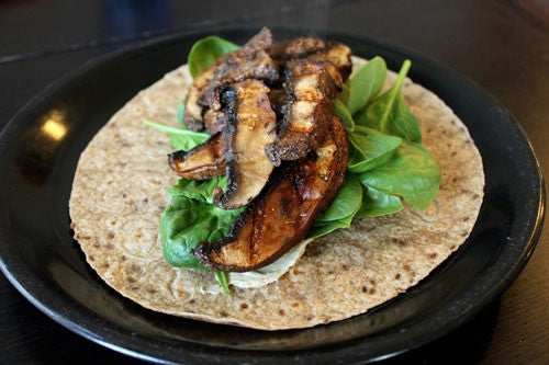 Marinated vegetable wrap