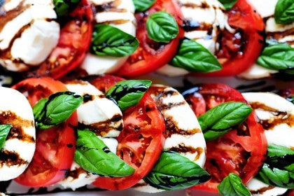 multi-color caprese salad