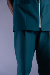 Aralia Teal  Sleeveless Suit Jacket