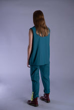 Load image into Gallery viewer, Aralia Teal  Sleeveless Suit Jacket