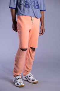 Peach Drop Knee Trousers