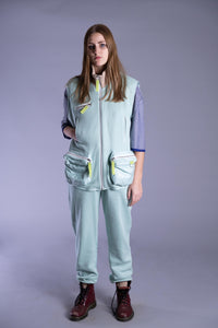 Mint Sleeveless Tracksuit