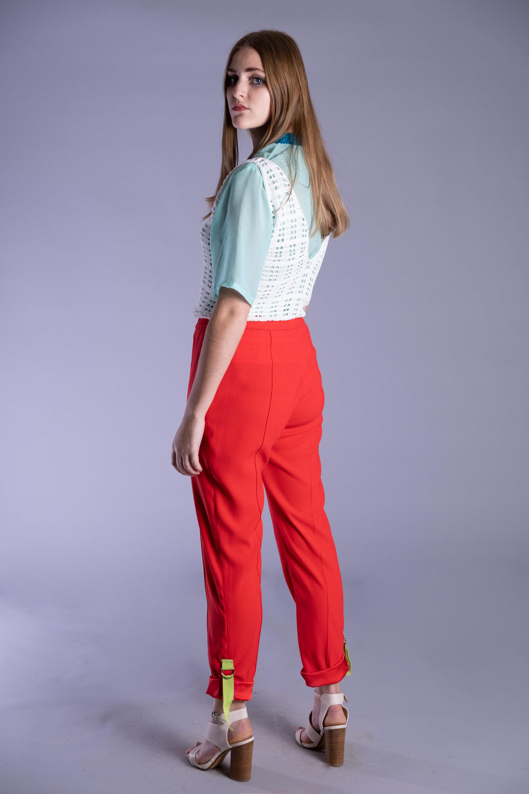 Raspberry Red Utility Trousers