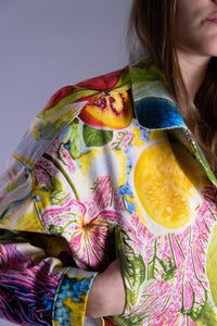 Cropped Tropical Denim Jacket