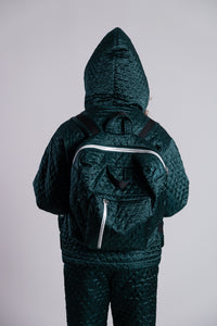 Merrillii Green Quilted Backpack