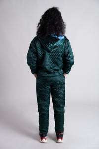 Merrillii Green Quilted Trousers