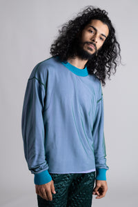 Lagoon Blue Jersey Sweater