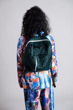 Load image into Gallery viewer, Merrillii Green Quilted Backpack