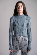 Load image into Gallery viewer, Petrol Blue & Jade Green Longsleeve Turtleneck