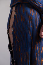 Load image into Gallery viewer, Carnelian Orange & Majorelle Blue Pencil Skirt with Rings