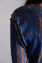 Load image into Gallery viewer, Carnelian Orange & Majorelle Blue Longsleeve Turtleneck with Small Rings
