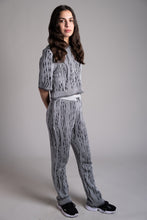 Load image into Gallery viewer, Onyx Black & White Straight-Leg Trousers