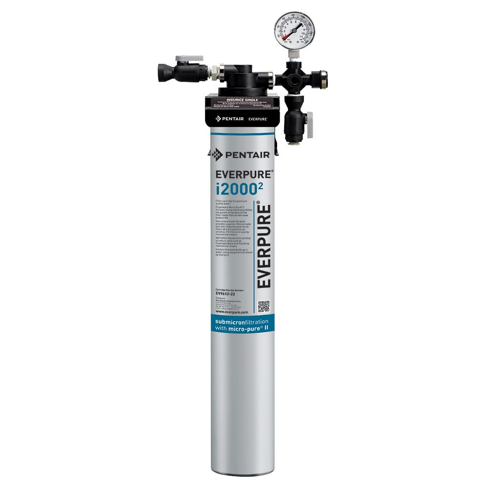 Everpure Insurice® i2000² Single Water Filter Assembly (for ice machines that produce 650 lbs or less)