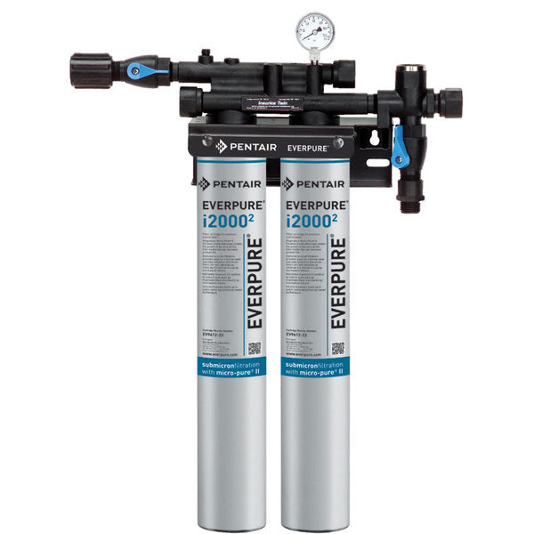Everpure Insurice® i2000² TWIN Water Filter Assembly (for ice machines that produce between 651 to 1,200 lbs)