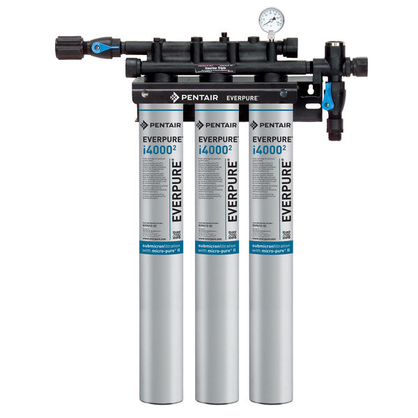 Everpure Insurice® i4000² TRIPLE Water Filter Assembly (for ice machines that produce between 1,201 to 1,600 lbs)