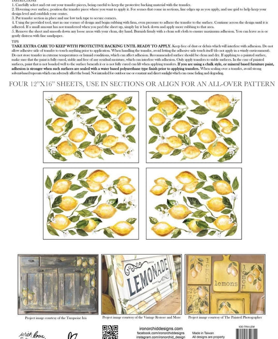 IOD Decor Transferfolie Lemon Drops Block