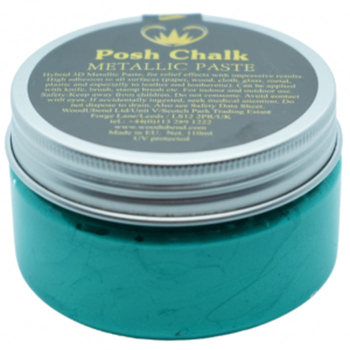Posh Chalk Smooth Metallic Paste  -  Green Fthalo  -