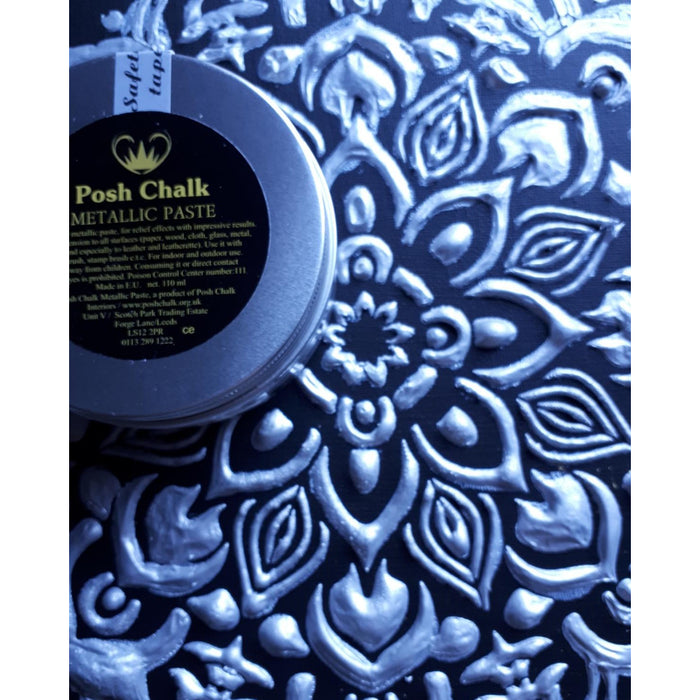 Posh Chalk Smooth Metallic Paste  -  Pearl Silver  -
